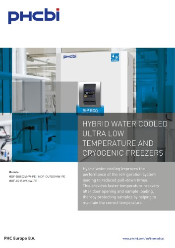 Hybrid Water Cooled Freezers