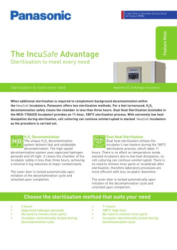 The IncuSafe Advantage - Sterilisation to meet every need