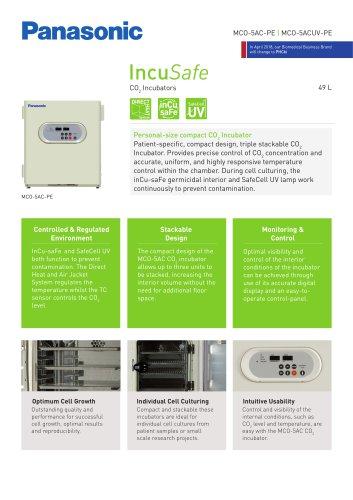 IncuSafe CO2 Incubator MCO-5AC Product Sheet