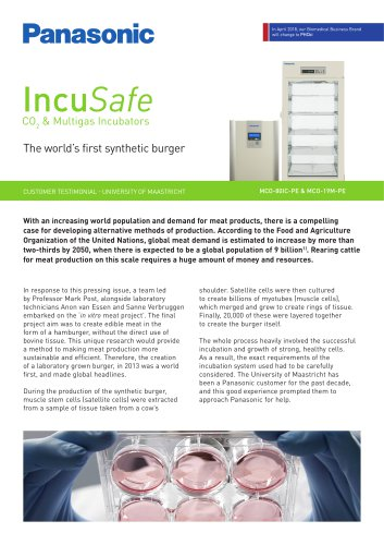 IncuSafe Incubators Customer Testimonial - The world's first synthetic burger, University of Maastricht
