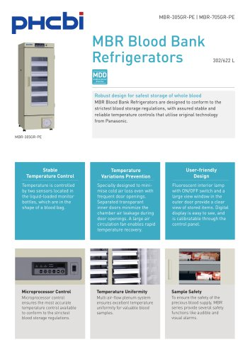 MBR Blood Bank Refrigerators
