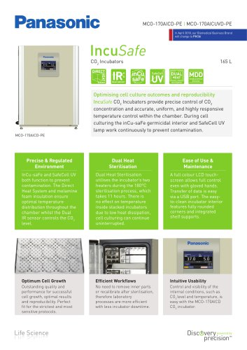 MCO-170AICD IncuSafe CO2 Incubator