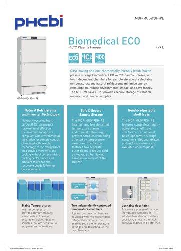 MDF-MU549DH-PE Biomedical ECO -40°C Plasma Freezer