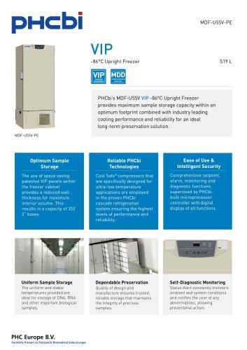MDF-U55V-PE -86°C Upright Freezer