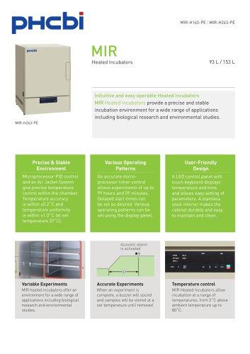 MIR-H163-PE & MIR-H263-PE Heated Incubator