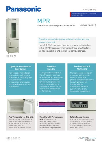 MPR-215F Pharmaceutical Refrigerator with Freezer