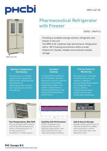 MPR-414F-PE Pharmaceutical Refrigerator with Freezer