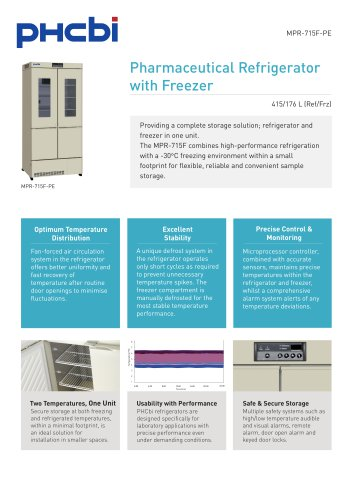 MPR-715F-PE Pharmaceutical Refrigerator with Freezer