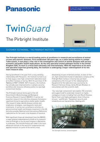 TwinGuard ULT Freezers Customer Testimonial - The Pirbright Institute