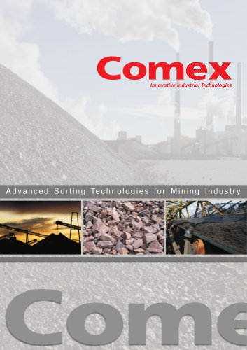 Advanced sorting technologies for mining industry