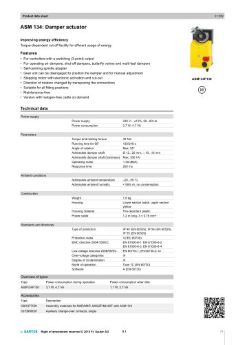ASM 134: Damper actuator