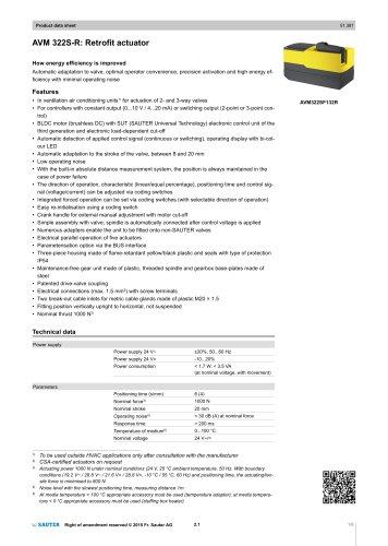 AVM 322S-R: Retrofit actuator