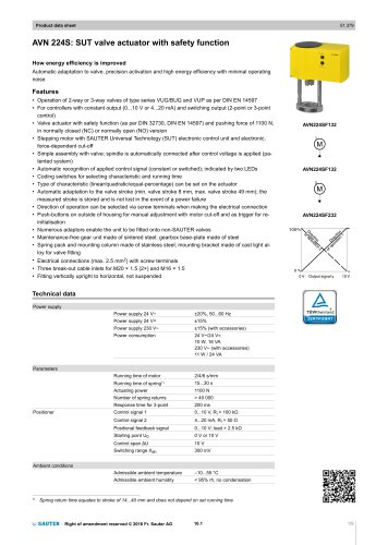 AVN 224S: SUT valve actuator with safety function