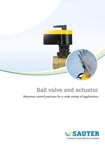 Ball valve and actuator.