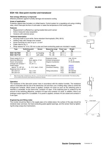 Dew-point monitor and transducer