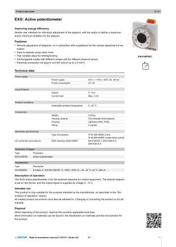 EXG: Active potentiometer
