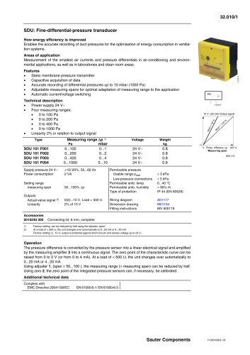 Fine-differential-pressure transducer
