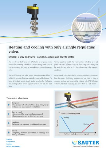 Heating and cooling with only a single regulating  valve.