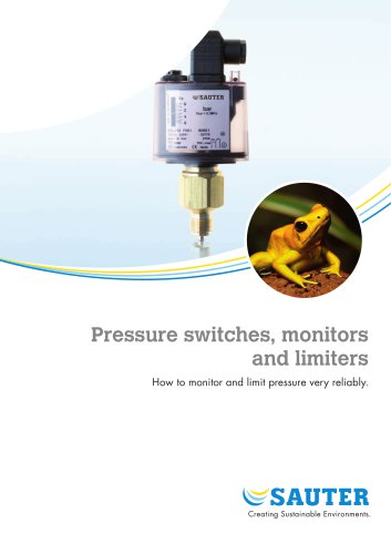 Pressure switches, monitors  and limiters