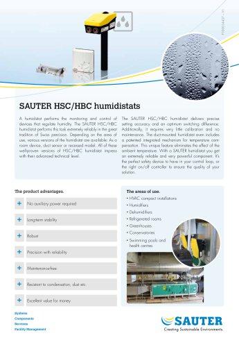 SAUTER HSC/HBC humidistats
