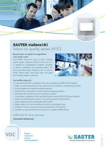 SAUTER viaSens181   Indoor air quality sensor