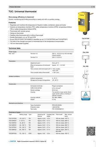 TUC: Universal thermostat