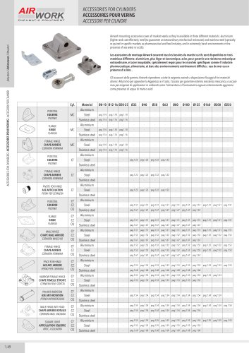 AR ACCESSORIES FOR CYLINDERS ISO 15552 21287