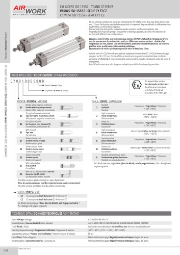 CY CYLINDERS ISO 1552 - CY SERIES