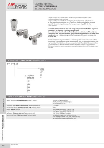 D400 COMPRESSION FITTINGS