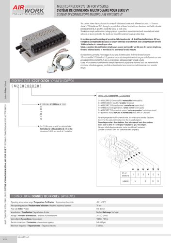 SM MULTI CONNECTOR SYSTEM FOR VY SERIES