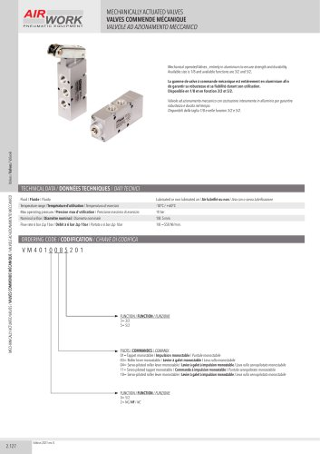 VM MECHANICALLY ACTUATED VALVES