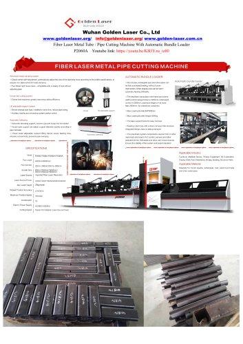 1000w 2000w 3000w Fiber Laser Metal Tube Cutting Machine P2060A