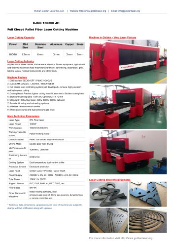 1000W Fiber Laser Cutting Machine for MS SS