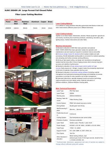 2KW Fiber Metal Laser Cutting Machine