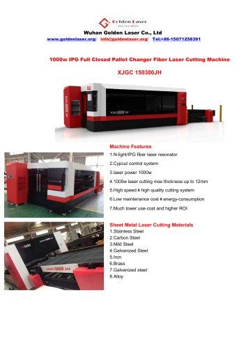 aluminum/brass/copper/galvanized steel sheet fiber laser cutting machine 1000w