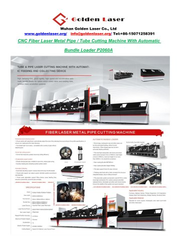 Cnc Fiber Laser 1000W 2000W Tube / Pipe Cutting Machine