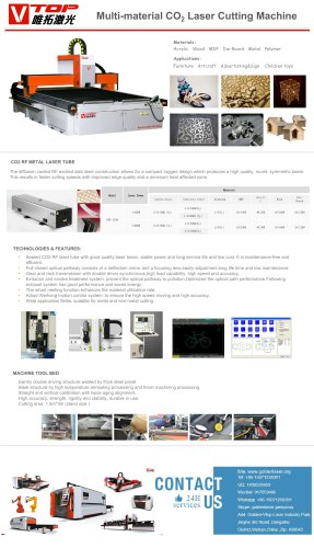 CO2 laser Cutting Machine For MDF Board / Acrylic / Stainless Steel / Carbon Steel / Aluminum Sheet