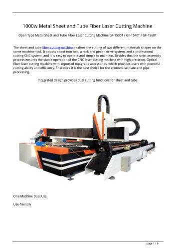Golden Laser 1000w Metal Sheet and Tube Fiber Laser Cutting Machine GF-1560T