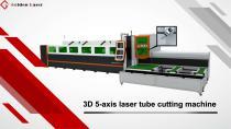Golden Laser 3D 5-aixs laser tube cutting machine P2060A-3D/P3080A-3D