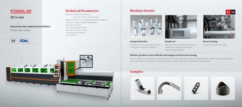 Golden Laser 3D 5-aixs tube laser cutting machine P2060A-3D P3080A-3D for metal fabrication