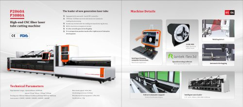 Golden Laser Automated Laser Tube Cutting Machine P3080A P2060A for Metal Fabrication