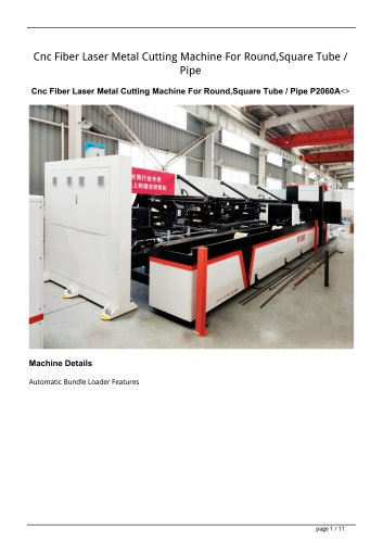 Golden Laser Cnc Fiber Laser Metal Cutting Machine For Round,Square Tube / Pipe