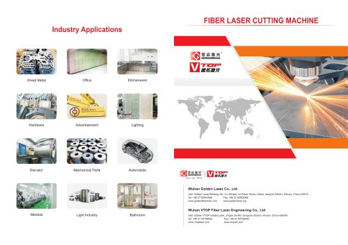 Golden Laser Compact and full closed fiber laser cutting machine GF-1510 for sheet