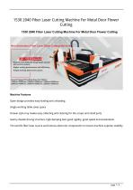 Golden Laser Fiber Laser Cutting Machine GF-1530 GF-2040 For Metal Door Flower Cutting