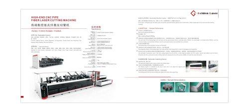 Golden Laser Fiber Laser Tube Cutting Machines Parameters