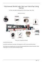 Golden Laser Fully Automatic Bundle Loader Fiber Laser Tube  Pipe Cutting Machine P3080A For Metal Shelf