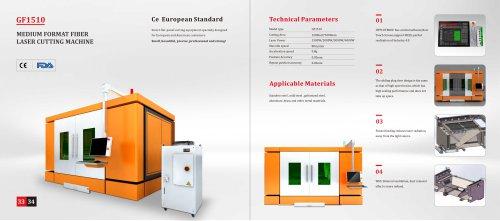 Golden Laser Medium Format Fiber Laser Cutting Machine New GF-1510 with CE Certificate