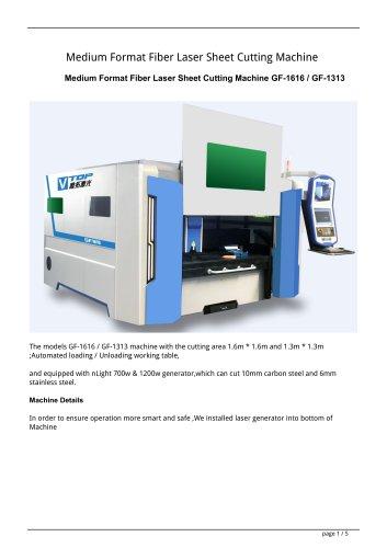 Golden Laser Medium Format Fiber Laser Sheet Cutting Machine GF-1616 / GF-1313