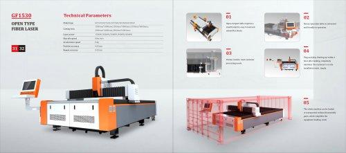 Golden Laser Open Type Fiber Laser Cutting Machine GF-1530 GF-2040 GF-2560 for Sheet Metal