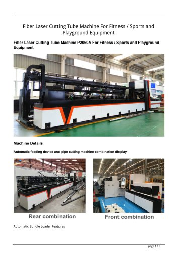 Golden Laser pipe cutting machine P2060A P2070A P3080A with auto bundle loader and feeder for fitness equipment industry